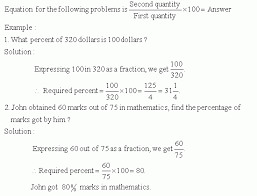 expressing one quantity as a percentage of another quantity math
