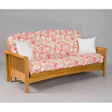 oak futon sofa bed portland cherry oak futon frame dcg stores