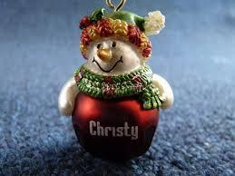 lindo ganz personalizado nombre muñeco de nieve jingle bell