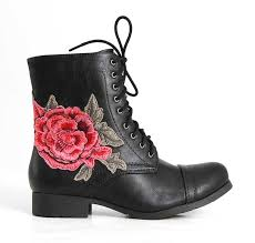 s boots combat soda shoes tanker embroidered combat boots for in black