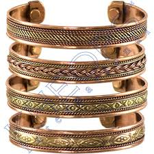 bracelet magnetic images Tibetan copper bracelet magnetic india pattern set of 4 kheops jpg