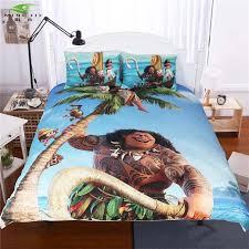 themed duvet cover anime moana bedding set children kids bedclothes