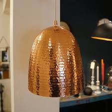 Copper Decorations Home Home Decor Hammered Copper Pendant Light Industrial Looking