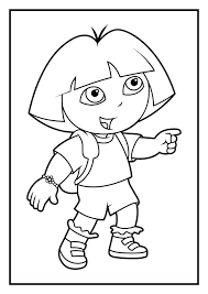 coloring pages games 9 47 various dora the explorer color to print