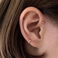 cartilage earrings tiny cartilage huggie hoop earrings 5mm 6mm serendipity in seoul