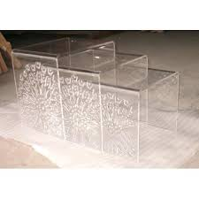 acrylic nesting tables target cool living reclaimed wood nesting tables cool living reclaimed wood