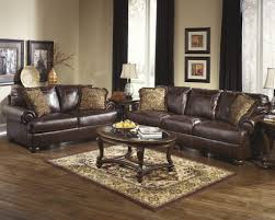 Large Modern Rug by Sofa Trend Ashley Leather Sofa And Loveseat Brown Modern Rug