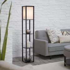 Tall Floor Lamps For Living Room Adesso Lighting 3138 01 Wright Etagere Floor Lamp For Extra