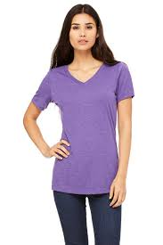 women u0027s relaxed jersey short sleeve v neck tee bella canvas