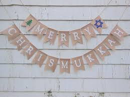 chrismukkah decorations ready to ship merry chrismukkah banner hanukkah banner