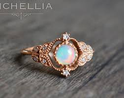 Opal Wedding Rings by Vintage Pear Opal Engagement Ring 14k 18k By Michelliadesigns