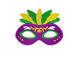 marti gras masks mardi gras mask purple includes both applique and stitched