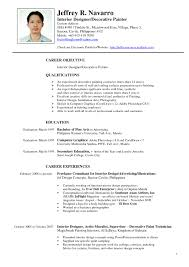 resume format sle doc philippines map interior design resume sles pdf www napma net