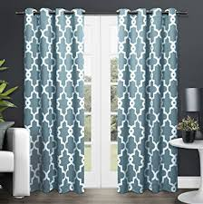 Teal Curtains Exclusive Home Curtains Ironwork Sateen Woven Blackout