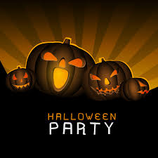 halloween background vector free orange halloween party background invitation stock photo image