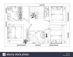 drawing room cut out stock images pictures alamy floor plan sketch stock image