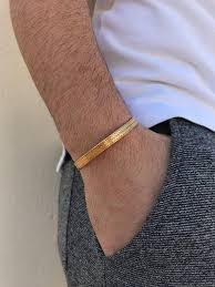 gold bangle bracelet men images Men 39 s bracelet cuff bracelet men gold bangle bracelet etsy jpg