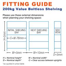 super saver 3x 175kg boltless garage shelving speedy shelving
