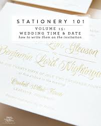 Wedding Invitations Long Island Stationery 101 Volume 15 Writing Your Wedding Date And Time