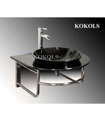 Black Vessel Sink Faucet Inch Wall Mounted Single Chrome Metal Bathroom Vanity Include