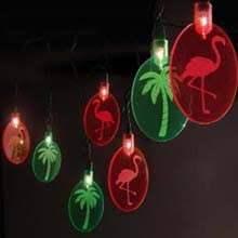 beaded palm tree string lights tropical lights