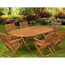 table chaise de jardin pas cher salon de jardin 1 table 6 chaises bois boston achat vente salon