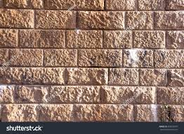 stone brick brown stone bricks on bridge pillar stock photo 378255979