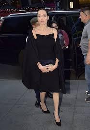angelina jolie black dress in new york city june 2016 popsugar