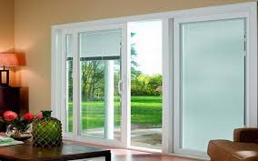 patio doors sliding glass doors with blinds shabby chic style