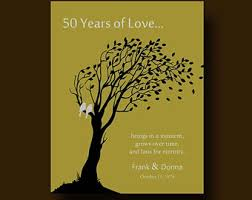 50th anniversary gift stunning 50 year wedding anniversary gift pictures styles