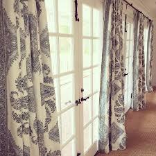 window treatments curtains drapery french doors sunroom