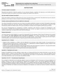 bureau d immigration du québec à demande certificat de selection 2011 enfant 22ans