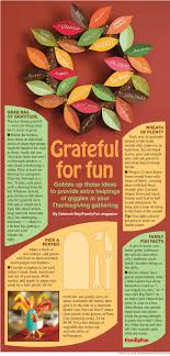 thanksgiving ideas from familyfun magazine nie rocks