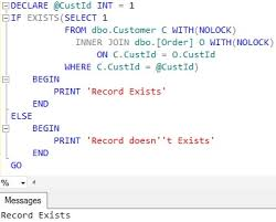 Sql Server Create Table Example How To Check If A Record Exists In Table In Sql Server Sqlhints Com