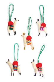 llama ornaments set of 5