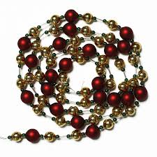 shop living 6 gold glass bead garland at lowes