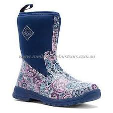 s muck boots australia muck boot mid print print blue australia the company breezy