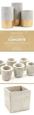 wholesale wedding supplies modern industrial concrete cement wedding supplies by koyal