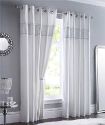 White And Grey Curtains White And Silver Curtains Home Design Ideas And Pictures