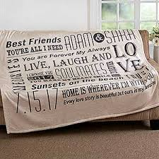 personalized wedding blankets gifts s gift ideas personalizationmall
