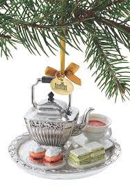 downton tea set ornament acorn holidays