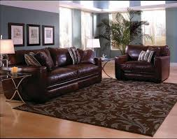 Leather Upholstery Sofa Interior Floral Modern Area Rugs For Living Room With Brown