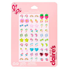 claires earrings kids summer stick on earrings pack s us