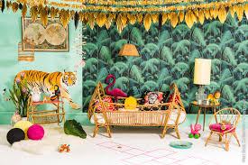 tapisserie chambre d enfant papiers peints natures pour une chambre d enfant au fil des