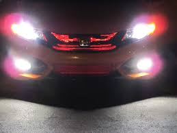 Sylvania Led Strip Lights by Red Led Strips Behind Grill 2014 Civic Si Coupe