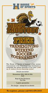 house of sports thanksgiving tournament back of the net soccer