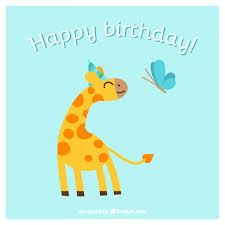 happy birthday card with animals vector free download