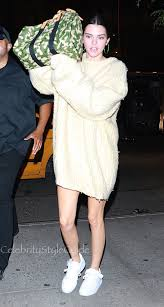 jenner sweater kendall jenner s camouflage bag doesn t help hide style