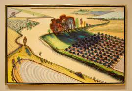 Wayne Thiebaud Landscapes by Wayne Thiebaud Flatland River Sfmoma Art Shebang