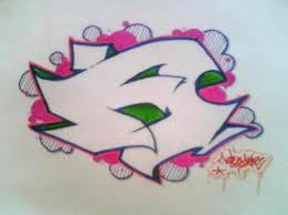 distortclut graffiti alphabet sketches letter a